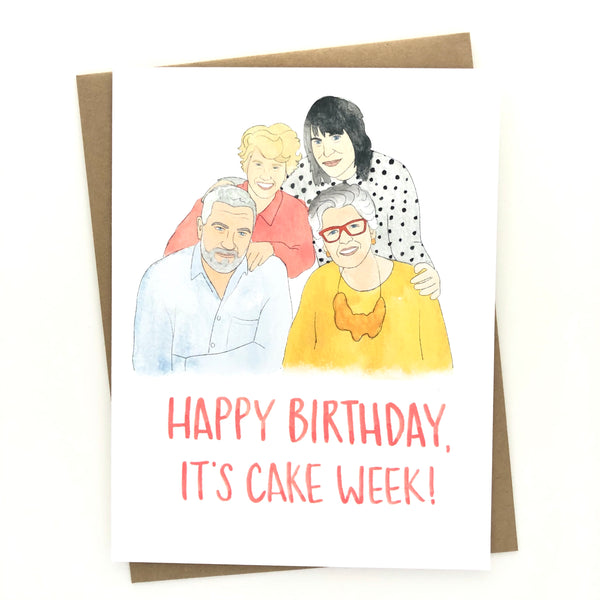 Great British Bake Off Birthday Card