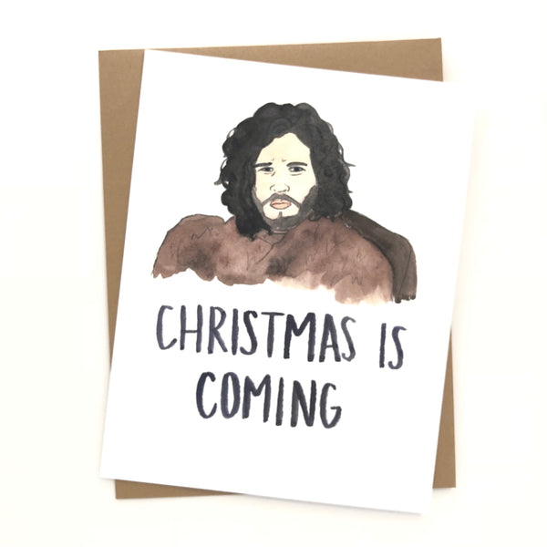 Game of Thrones // Jon Snow Christmas Card