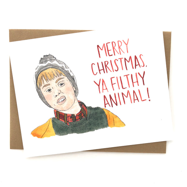 Merry Christmas Ya' Filthy Animal // Home Alone Christmas Card