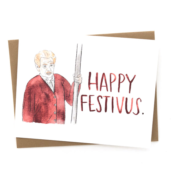 Happy Festivus // Seinfeld Christmas Card