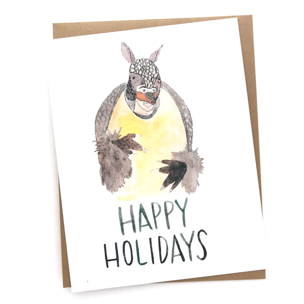 Friends Holiday Armadillo Card