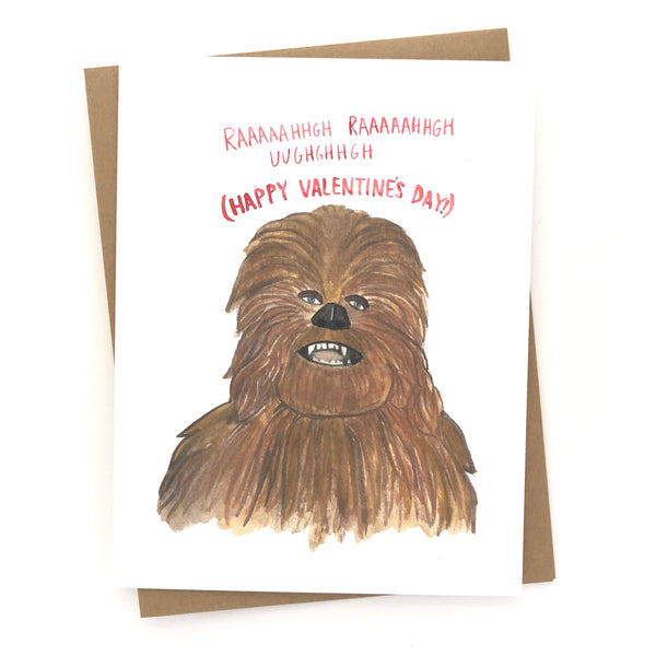 Valentine's Day Card// Chewbacca