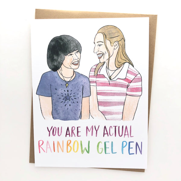 Pen15 Birthday Card // Actual Rainbow Gel Pen