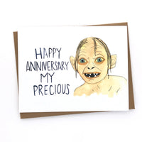 Gollum Anniversary // Lord of the Rings Card// My Precious
