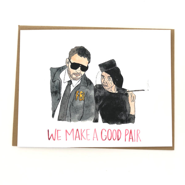 Janet Snakehole & Burt Macklin // Parks and Rec Card