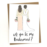 Will you be my Bridesmaid Card // Wedding Party Proposal