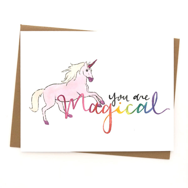 You Are Magical Unicorn Card