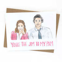 Jim and Pam // The Office Love Card