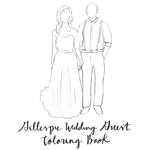 Wedding Guest Coloring Book // Custom Wedding book