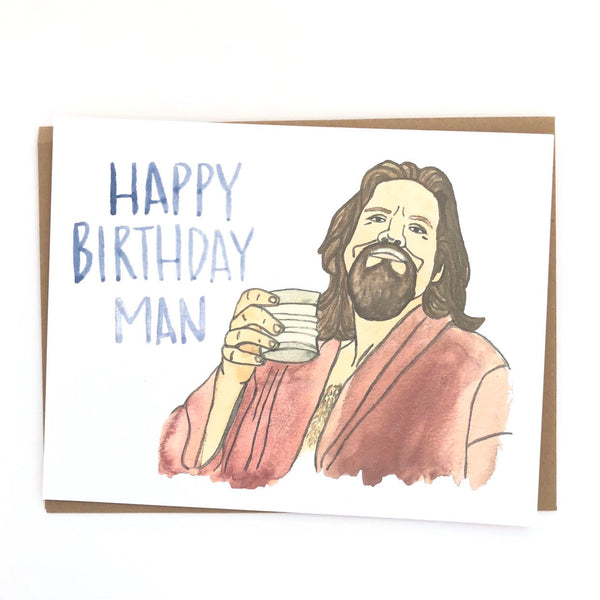 Big Lebowski Birthday Card