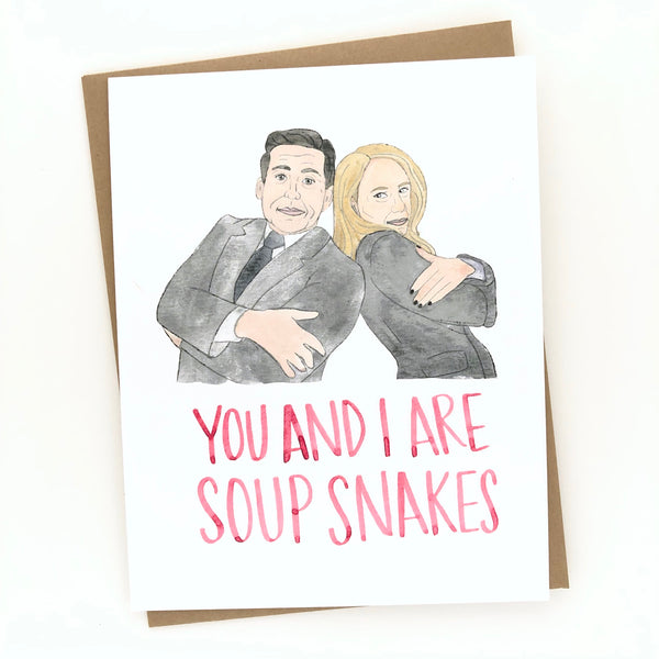 Soup Snakes // The Office Love Card