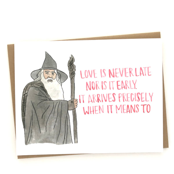 Gandalf Love Quote// Lord of the Rings Card Wholesale