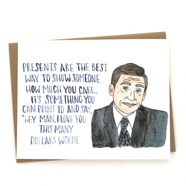 Michael Scott Birthday // The Office Card