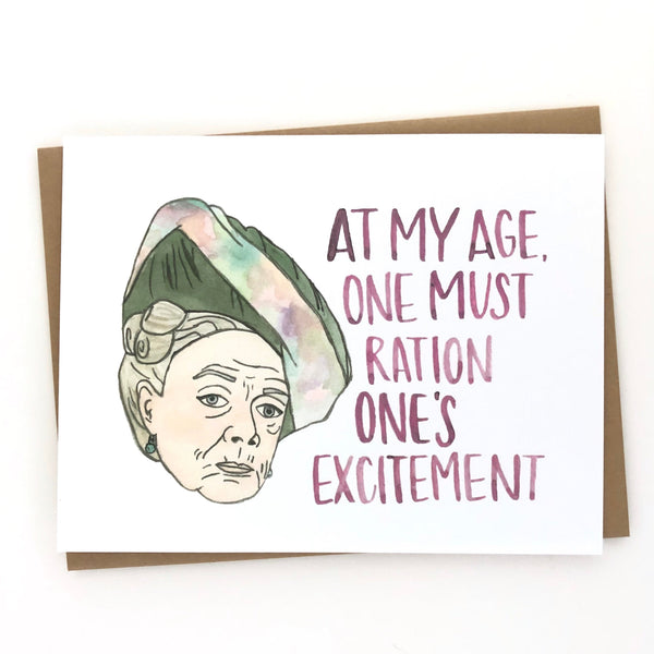 Downton Abbey // Dowager Countess Card