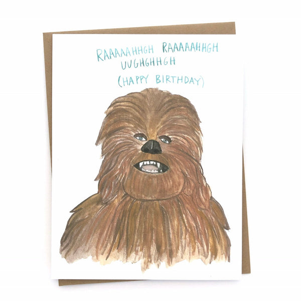 Star Wars Birthday Card// Chewbacca Funny