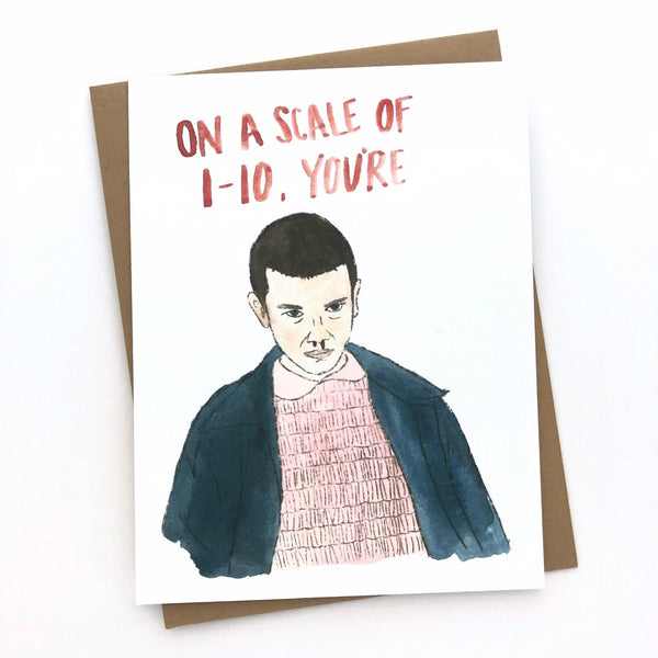 Stranger Things Card //Eleven
