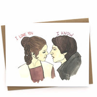 Star Wars Card // I love you, I know