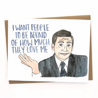Michael Scott Father's Day // The Office Card