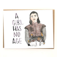 Game of Thrones Birthday Card // Arya Stark Card