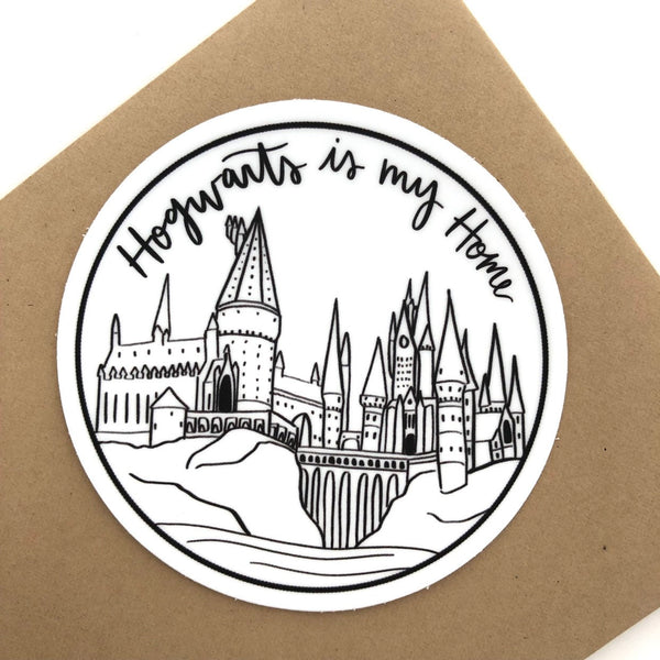 "Hogwarts is my Home// 3"" Vinyl Sticker"