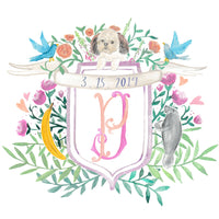 Custom Wedding Crest // Family Coat of Arms