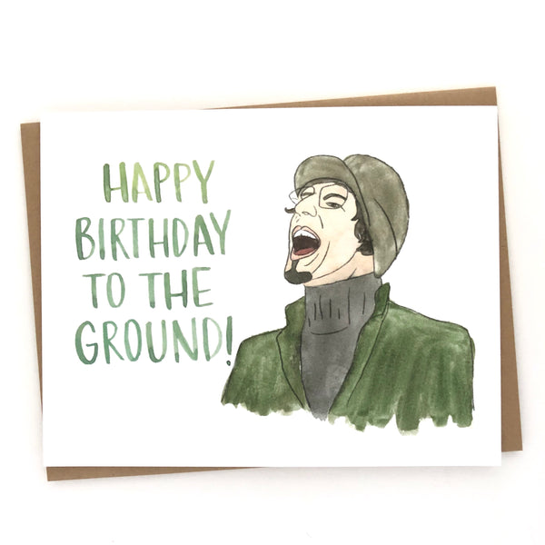 Andy Samberg Card // Happy Birthday to the Ground
