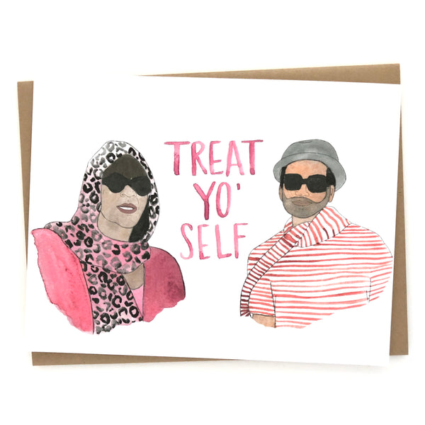 Parks and Rec Card// Treat Yo Self