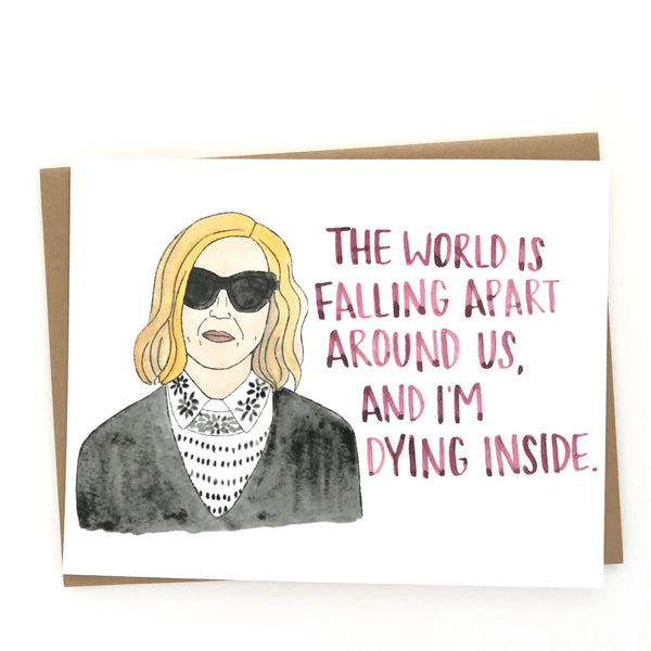 Schitt's Creek // Moira Rose Sad Card