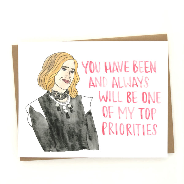 Schitt's Creek // Moira Rose Love Card