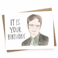 Dwight Schrute // The Office Birthday Card