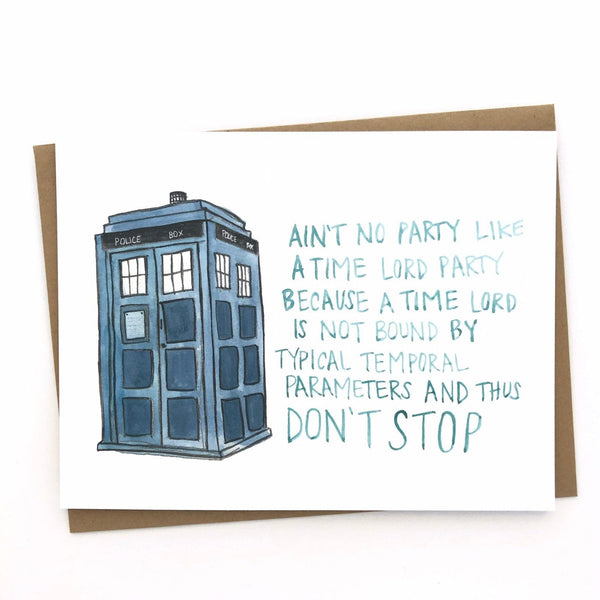 Doctor Who Birthday// Tardis Celebration Card