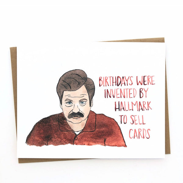 Ron Swanson Birthday// Parks and Rec Card