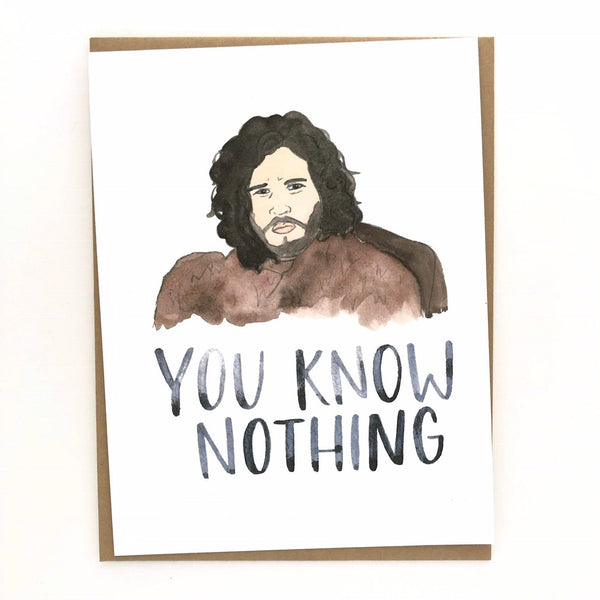 Game of Thrones // Jon Snow Card