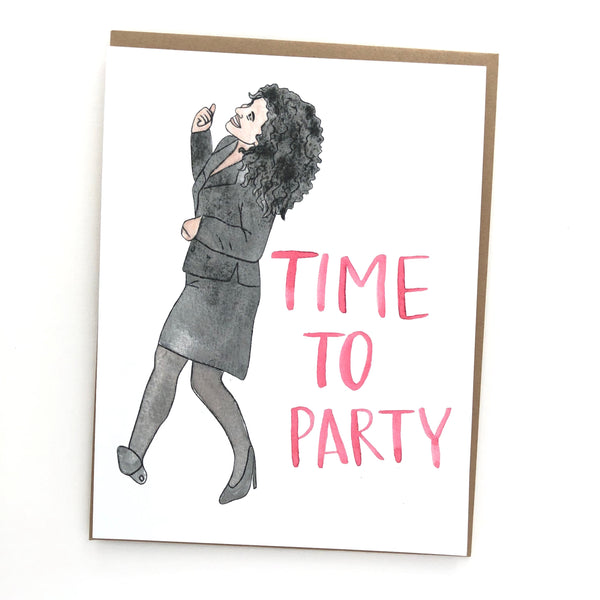 Elaine Dancing // Seinfeld Birthday Card