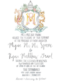 Custom Wedding Crest Suite // Wedding Invitations