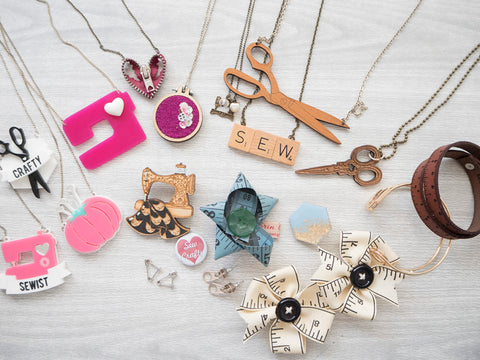 My Sewing Themed Jewellery Collection