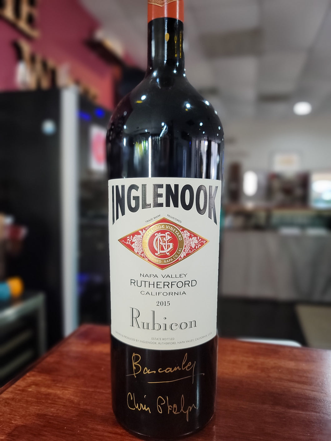 2015 Inglenook Rubicon signed 1.5L Magnum Rutherford Napa Valley