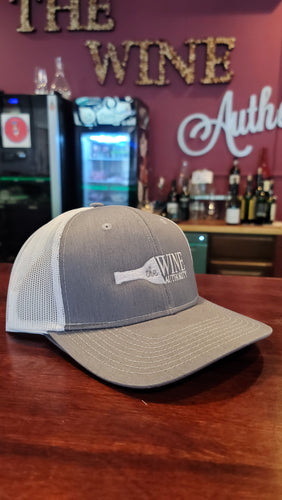 Trucker White and Grey Baseball Cap