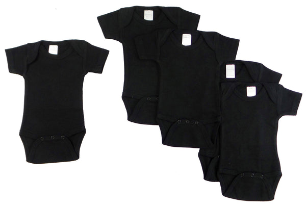 Bambini Black Onezie (Pack of 5)