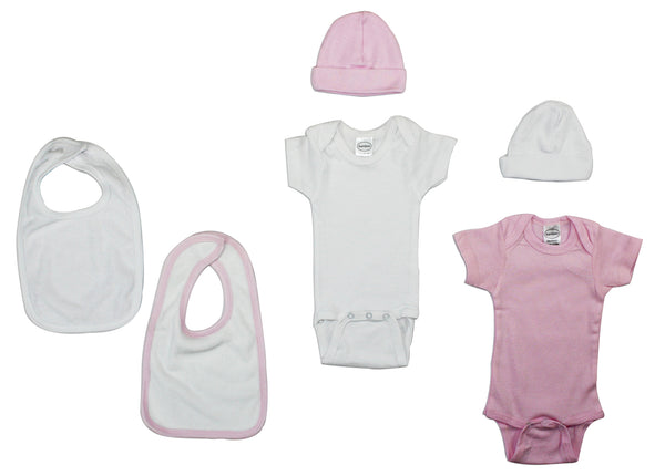 Bambini Girls' 6 Piece Layette Set