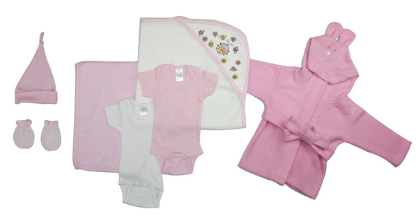 Bambini Essential Newborn Baby Girl 7 Piece Layette Set
