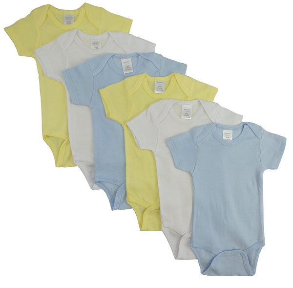Bambini Pastel Boys' Short Sleeve 6 Pack