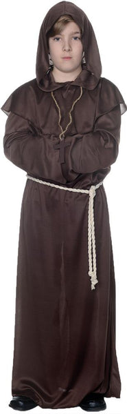 Monk Robe Boys Costume Brown Sm