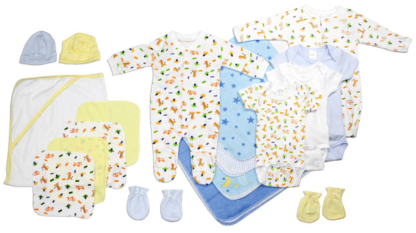 Bambini Newborn Baby Boy 18 Pc Layette Baby Shower Gift Set