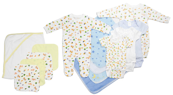 Bambini Newborn Baby Boy 14 Pc Layette Baby Shower Gift Set