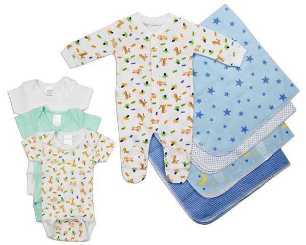 Bambini Newborn Baby Boy 8 Pc Layette Baby Shower Gift Set