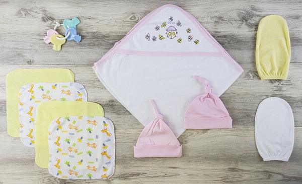 Bambini Hooded Towel, Bath Mittens, Hats and Wash Coths