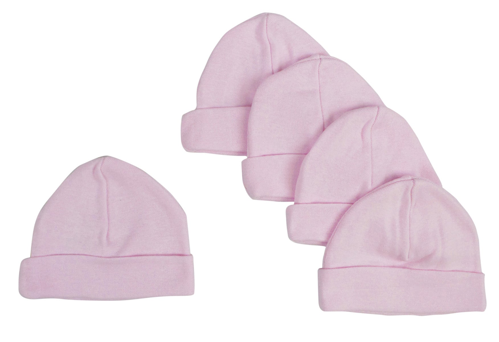 Bambini Pink Baby Cap (Pack of 5)