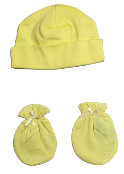 Bambini Neutral Baby Cap and Mittens 2 Piece Set