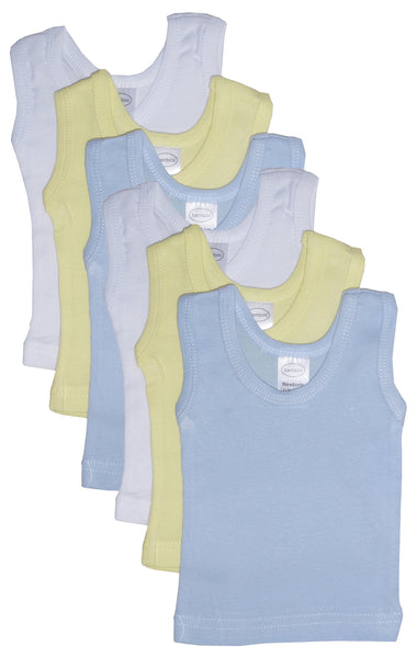Bambini Boys' Six Pack Pastel Tank Top
